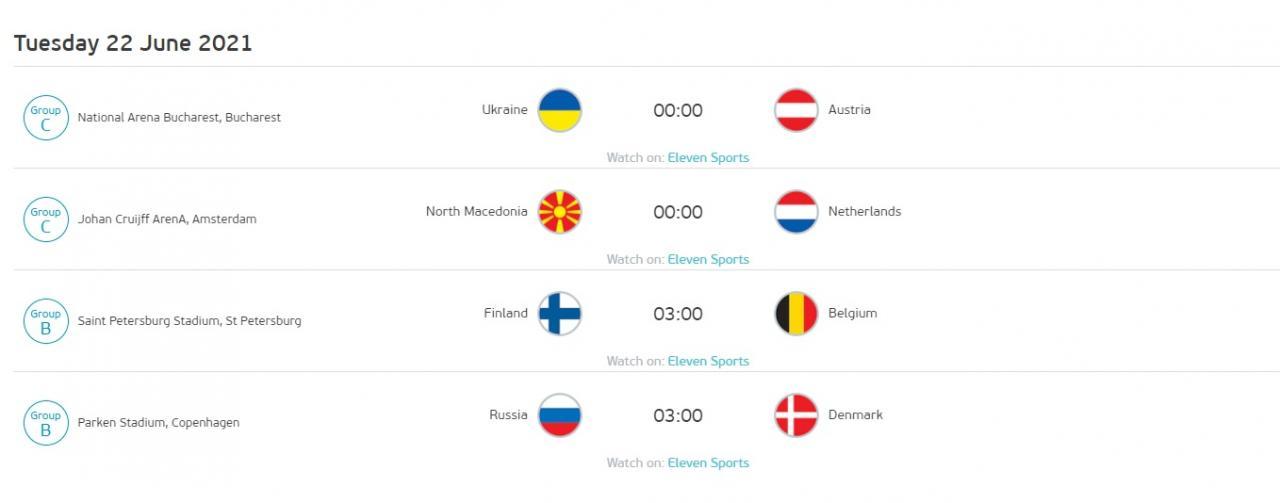 歐國盃B組與C組賽程。圖:UEFA