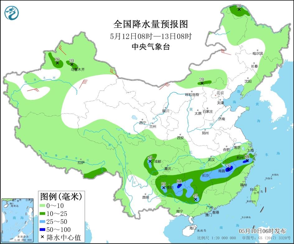 【玩運彩賺錢彩幣換現金】 長江中下游地區將有較強降雨過程 江西湖南等地將有強對流天氣 _玩運彩討論區朋友圈