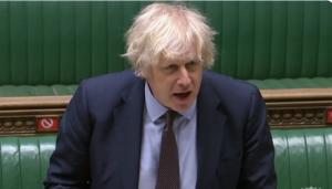英國首相強森(Boris Johnson)表示,如英格蘭隊在歐國盃得冠,考慮全國放假一天。圖:翻攝自Boris Johnson Twitter(資料照片)
