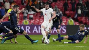 奪冠大熱英格蘭被預期能順利進入歐國盃冠軍賽。圖:達志影像/美聯社