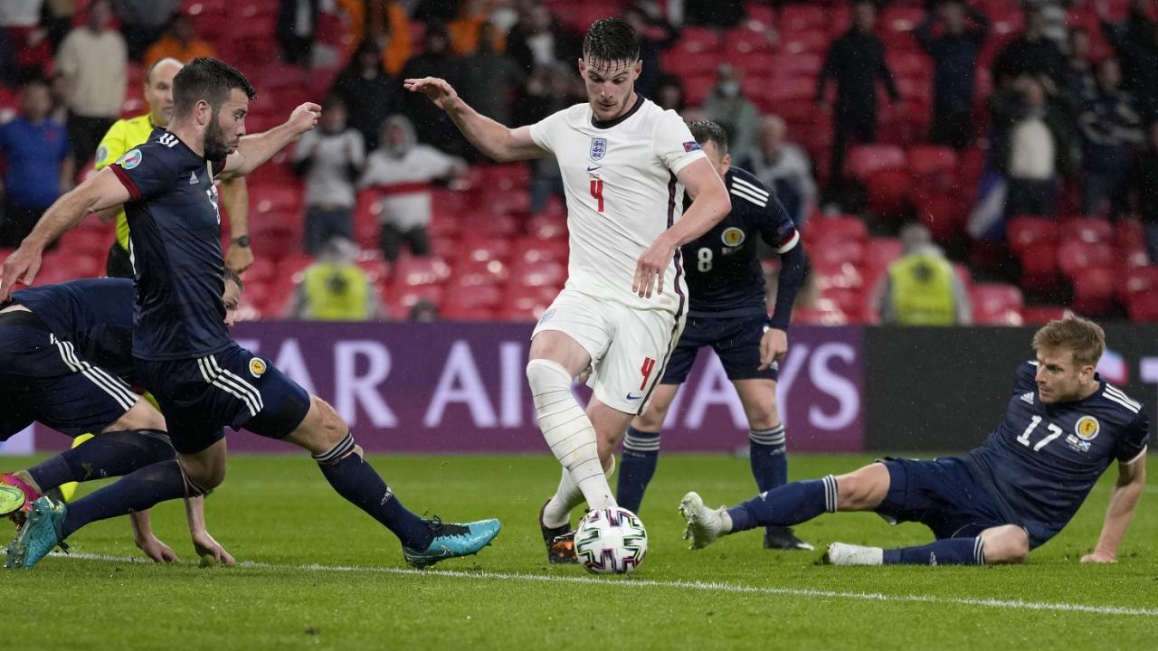 奪冠大熱英格蘭順利進入歐國盃冠軍賽。圖:達志影像/美聯社