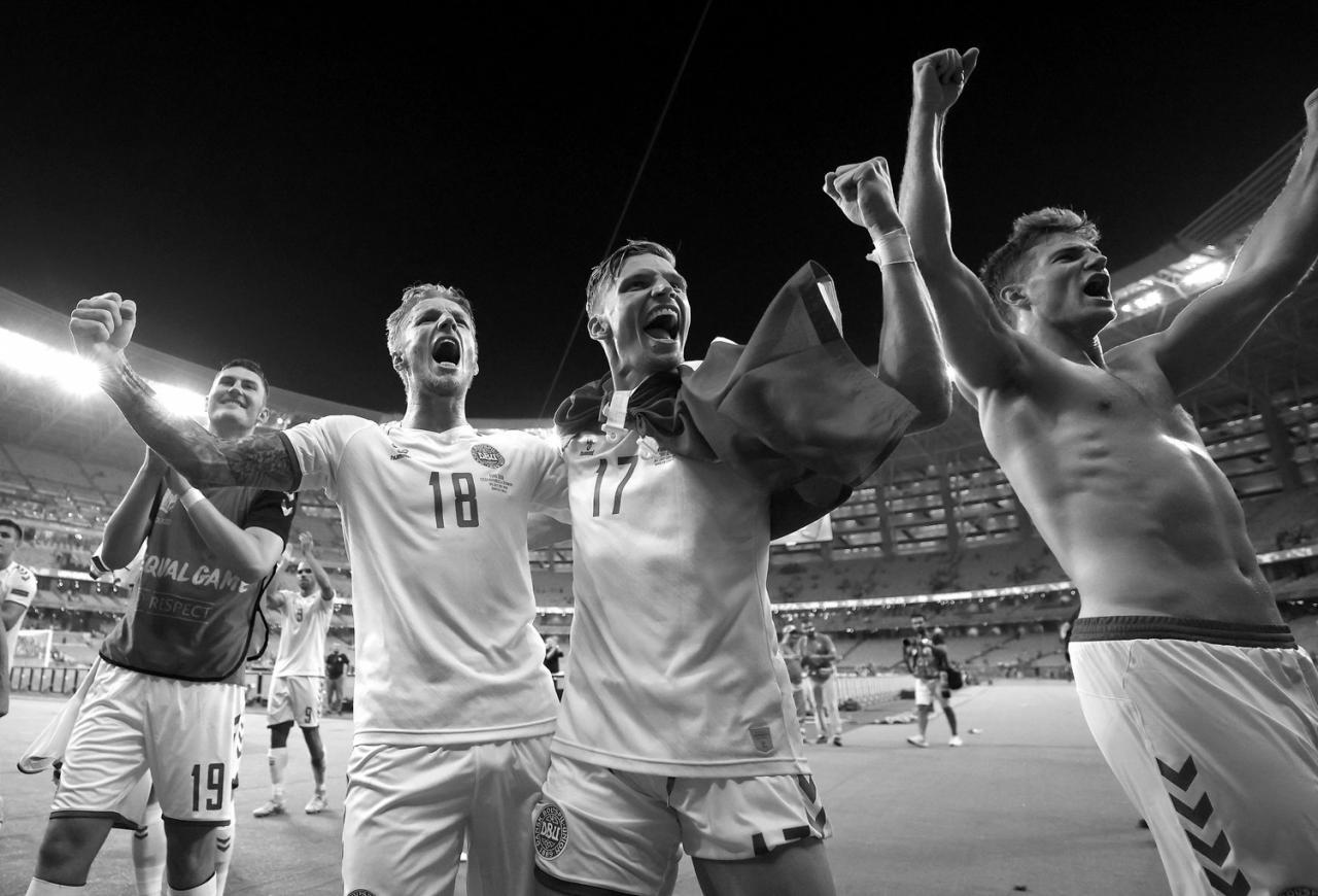 丹麥挺進2020歐洲國家盃最後4強行列。圖/twitter.com/EURO2020